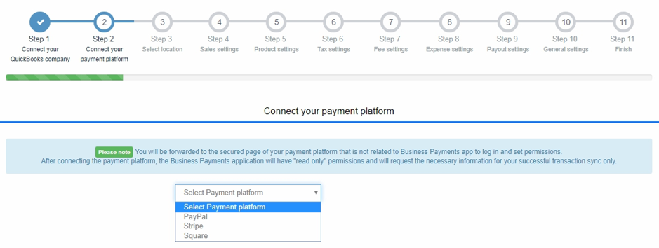 How to connect your PayPal/Stripe/Square with QuickBooks Online