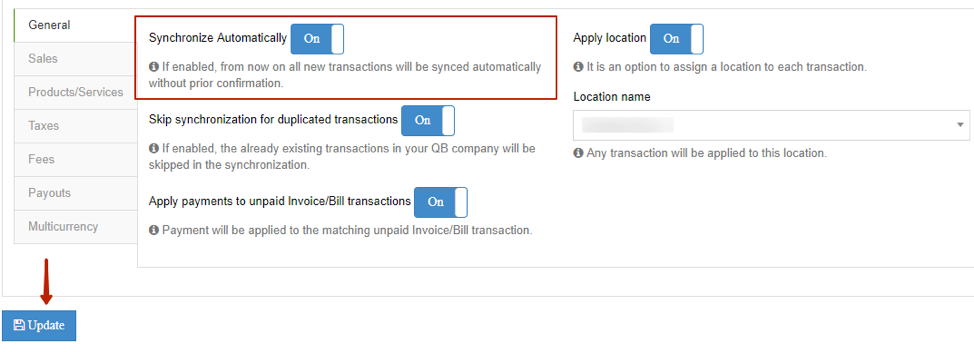 Sync Transactions