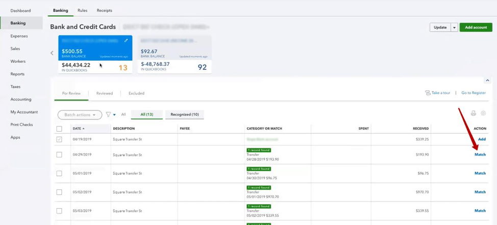 How to reoincile Stripe transactions in QuickBooks