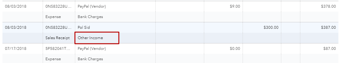 Assigned Category in QuickBooks