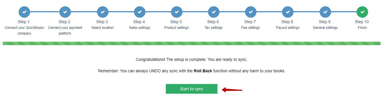 Starting Synchronization
