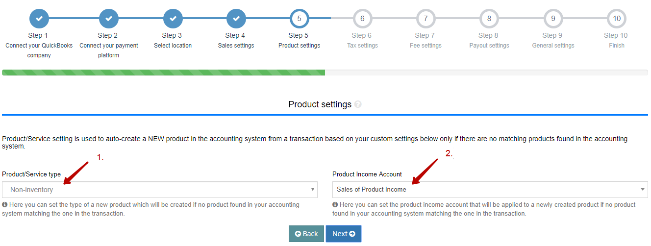 customize new products created during sync