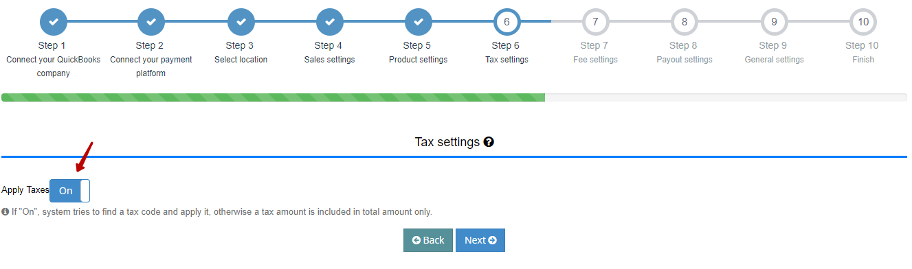 Tax Settings in Synder for Square and QuickBooks Online