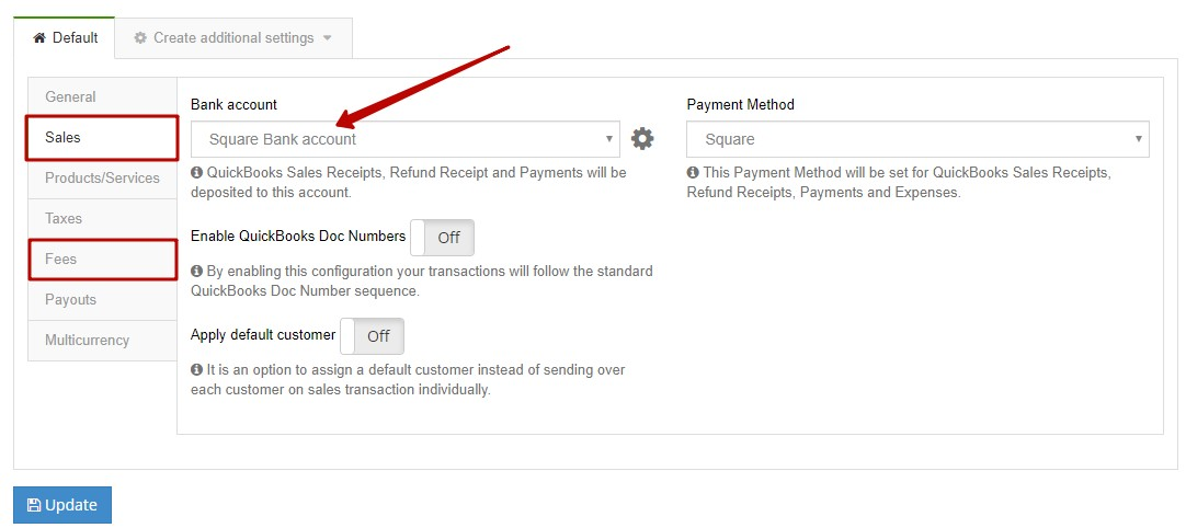 Check settings for account reconciliation