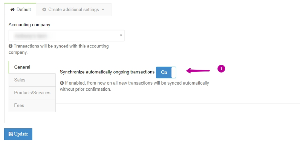 Xero Integration - general settings