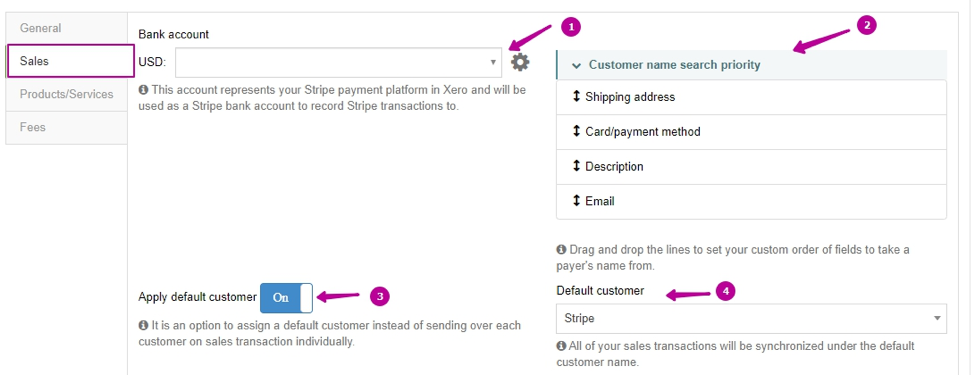 sales-settings in business payments