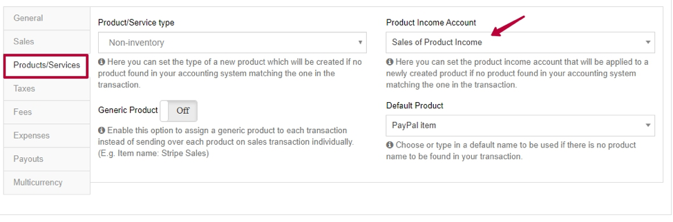 How to keep track of PayPal sales in QBO - See the product income account.