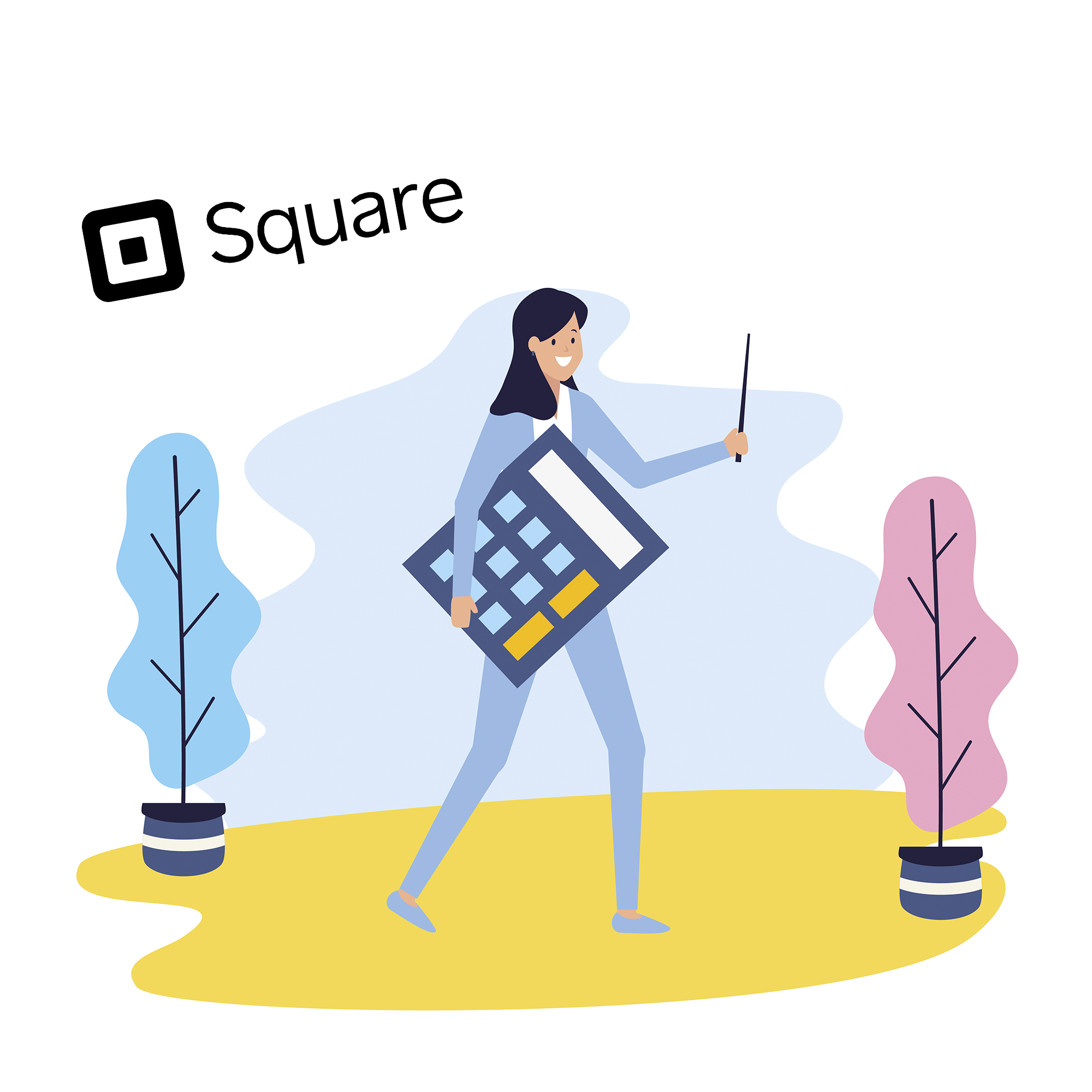 How to record Square fees in QBO