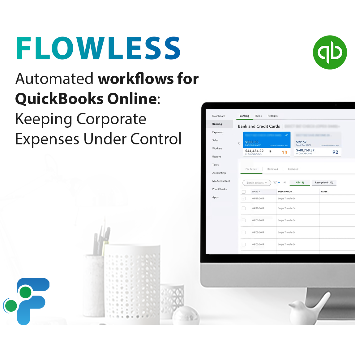 Automated workflows for QuickBooks Online