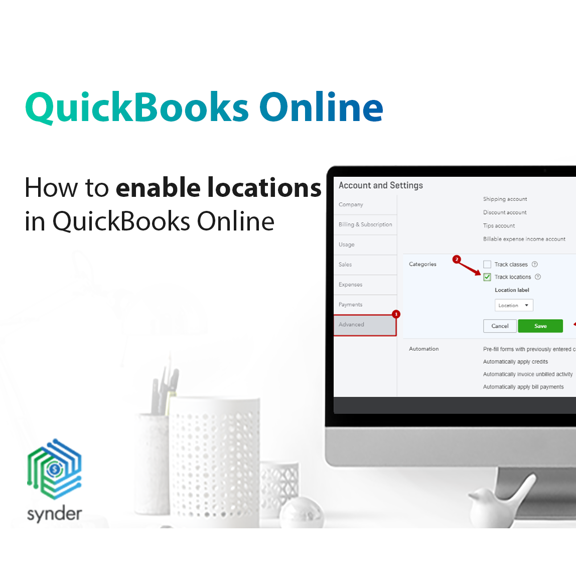 enable locations in QuickBooks Online