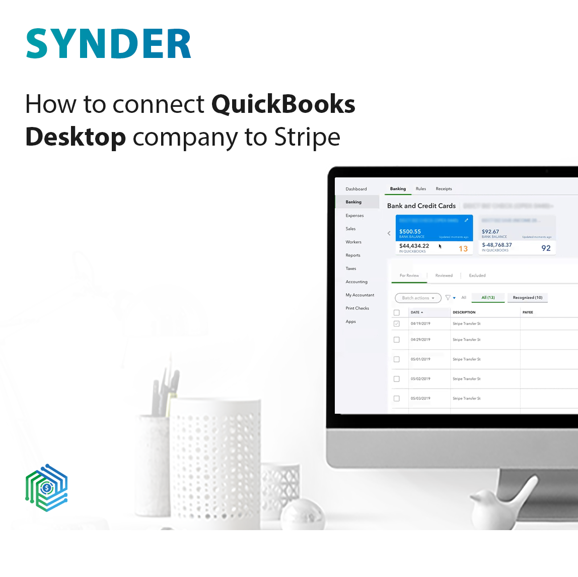 How to connect QuickBooks Desktop company to Stripe