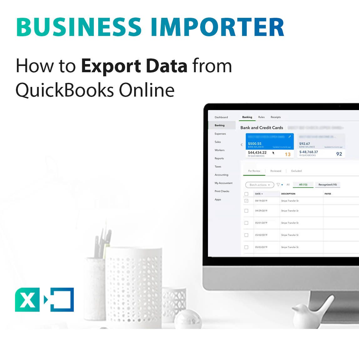 export data from QuickBooks