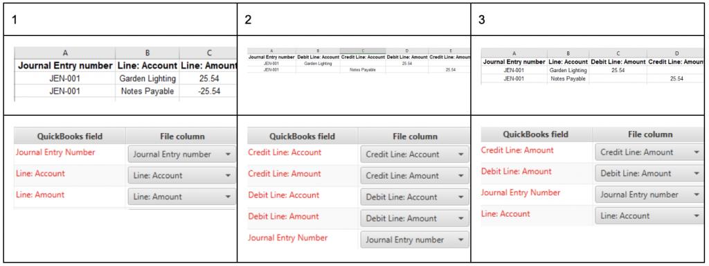 Business Importer Desktop Journal Entry Import Setting