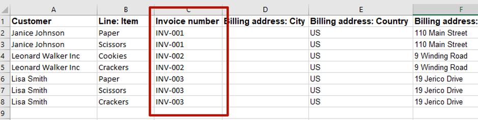 import Multi-line transaction