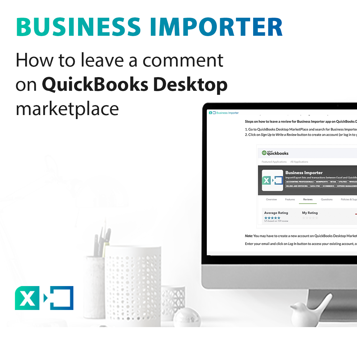 leave a comment on QuickBooks Desktop marketplace